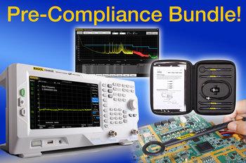 Rigol DSA800 EMI PRE-COMPLIANCE BUNDLE, Spectrum-Analyzer inkl. Nahfeldsonden und Software zur EMI Messung