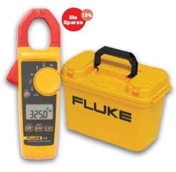 FLUKE 325 Strommesszange, 400 A, AC/DC, TRMS mit Gratiskoffer C1600.