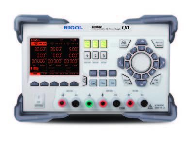 RIGOL DP832 Programmierbare DC Power-Supply, USB only, 3 Kanal, 195 W, 30V/3A    30V/3A, 5V/3A