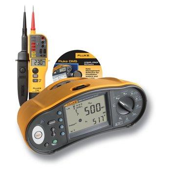 Fluke 1663 Multifunktions-Installationstester im Set mit GRATIS DMS-Software und T130 Spannungsprüfer