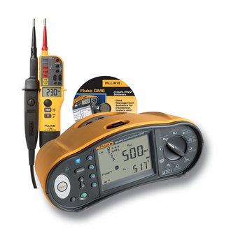 Fluke 1664FC Multifunktions-Installationstester im Set mit gratis DMS-Software und T150 Spannungsprüfer