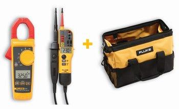 Fluke Starter-Kit mit 325 Stromzange, T150 Spannungsprüfer und C550 Zubehörtasche