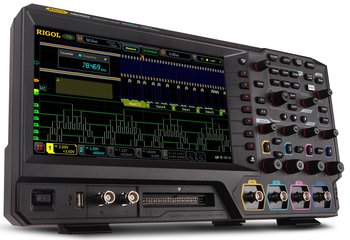 "Neuheit! RIGOL Digitale Oszilloskope der Serie MSO5000, 2 oder 4 Kanäle, 70-350 MHz, 8 GSa/s, 100 Mpts, 500.000 wfms/s, 9"" Touchscreen, ab 809,- Euro exkl. Mwst."
