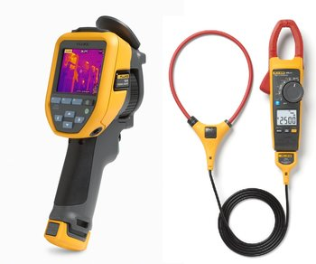 Fluke TiS75, inkl. gratis Fluke 376FC Stroamzange, 9Hz, Auflösung: 320x240px, Man. Fokus bis 15cm, Temp. Bereich: -20 bis +550°C