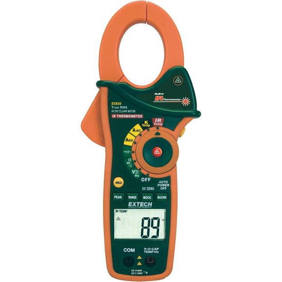 EXTECH EX830 1000A TRMS AC/DCStromzange + IR-Thermometer + Typ K Thermometer