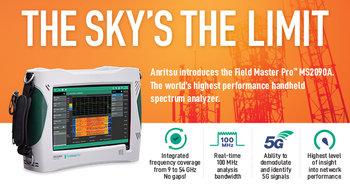 Anritsu MS2090A Field Master PRO Handheld Echtzeit-Spectrum Analyzer, 9 kHz...54 GHz, für 5G Mobilfunkanlagen, Luftfahrt- u. Satellitenkommunikation, Radarmessungen