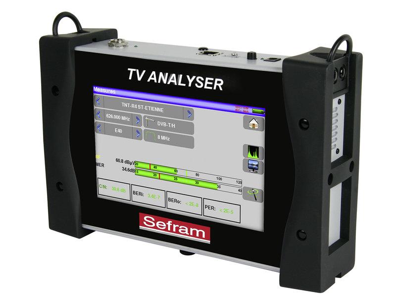 """Sefram 7849B Compact TV Meter für terrestrische, Kabel- und Satelliten Anwendung (DVB-T / DVB-C / DVB-S), 7"""" Touchscreen"""