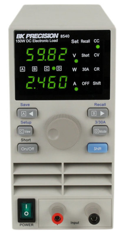 BK Precision Serie BK8540 elektronische Last, 150 W DC