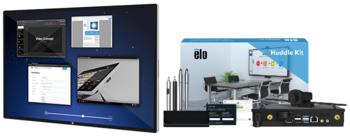 """Elo drahtlose Lösung für Besprechungsräume mit Huddle Kit - 65"""" Touchscreen, Computermodul, Konferenzkamera und Softwarepaket"""
