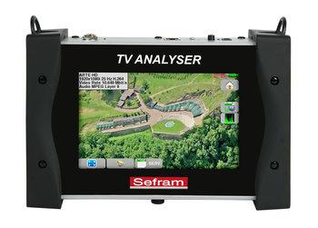 """Sefram 7848B Compact TV Meter für terrestrische und Satelliten Anwendung (DVB-T / DVB-T2/T2 Lite / DVB-S ), 7"""" Touchscreen"""
