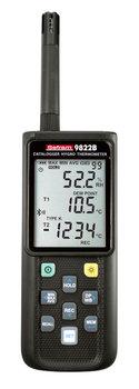 Sefram 9822B Luftfeuchte- u. Temperaturmessgerät, Datenlogger, PC-Anbindung, TypK Eingang und Bluetooth®