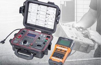 GT-900-PROFI-Kit, Gerätetester inkl. Barcode-Etikettendrucker, Leckstromzange, Barcodescanner, Tastatur, Software